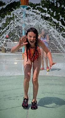 Happy girl at OSH